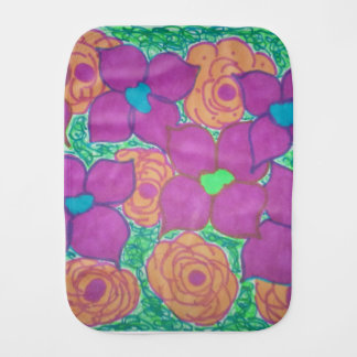 Pano De Boca Arte tropical colorida do teste padrão de flor
