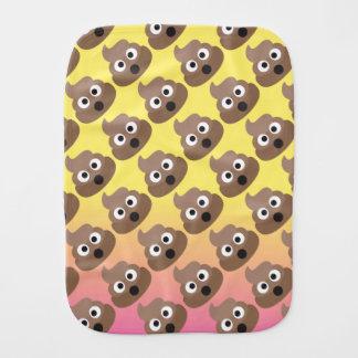 Pano De Boca Bebê de Ombre Emoji Poo