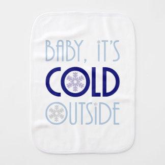 Pano De Boca Bebê, é inverno exterior frio do Natal