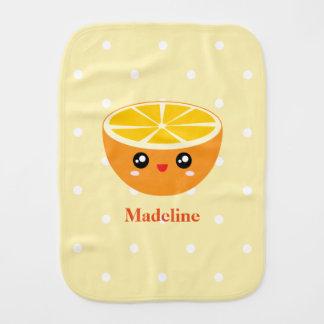 Pano De Boca Bebé feliz feminino bonito da laranja doce de