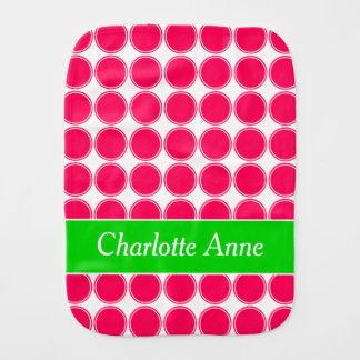 Pano De Boca Bolinhas cor-de-rosa e verdes do verão brilhante