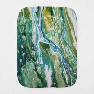 Pano De Boca Cachoeira azul verde abstrata colorida de turquesa