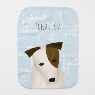 Pano De Boca cão bonito abstrato de Jack Russell dos quadrados