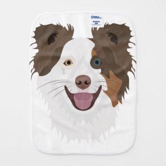 Pano De Boca Cara feliz border collie dos cães da ilustração