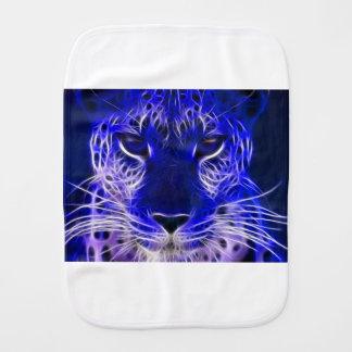 Pano De Boca design azul do fractal da chita