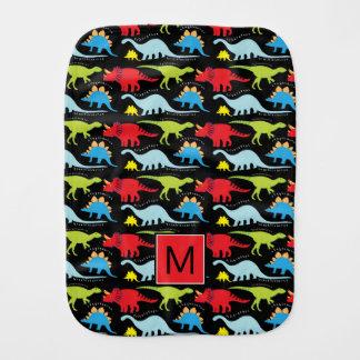 Pano De Boca Dinossauros coloridos do monograma |