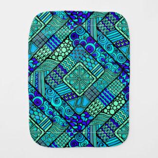 Pano De Boca Do abstrato verde do azul de Boho teste padrão