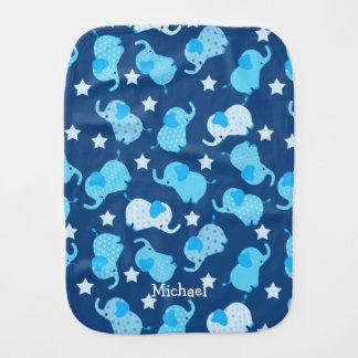 Pano De Boca Elefante azul do teste padrão do bebé