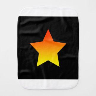 Pano De Boca Estrela alaranjada brilhante no preto