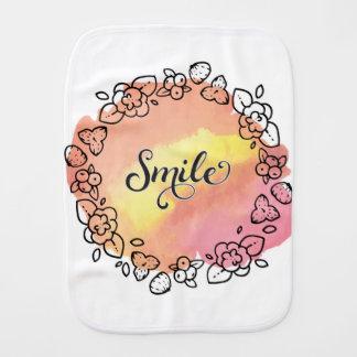 Pano De Boca Grinalda da flor do sorriso