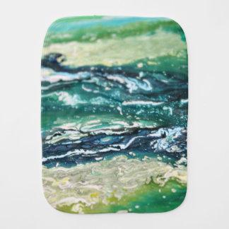 Pano De Boca Linhas de pintura brancas do abstrato de turquesa