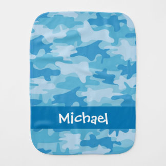 Pano De Boca Nome azul da camuflagem de Camo personalizado