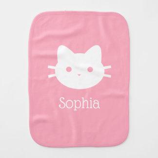 Pano De Boca Pano personalizado do Burp do rosa do gato do