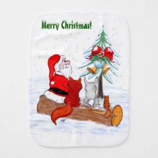 Pano De Boca Papai Noel com Fox do coelho e esquilo