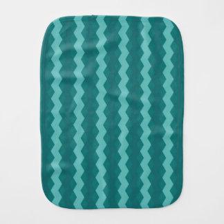 Pano De Boca Pattern Blue Stripes - Linhas zigzag