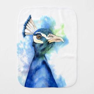 Pano De Boca Pintura da aguarela do pavão