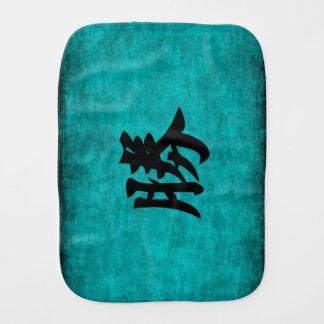 Pano De Boca Pintura do caráter chinês para o sucesso no azul