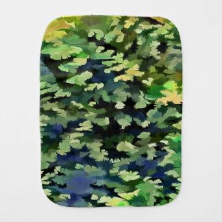 Pano De Boca Pop art abstrato da folha em verde e no azul