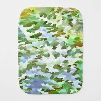 Pano De Boca Pop art abstrato da folha no verde branco e no pó