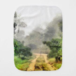 Pano De Boca Porta, hortaliças e névoa