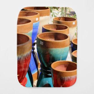Pano De Boca Potes coloridos da planta de jardim