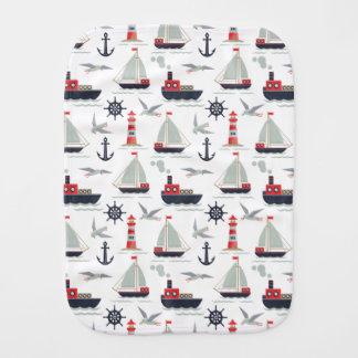 Pano De Boca Presente infantil do chá do menino do marinheiro