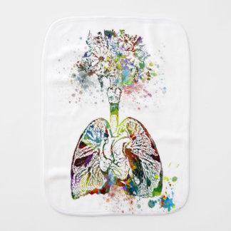 Pano De Boca Presentes médicos coração e motivo dos pulmões