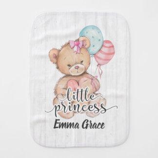 Pano De Boca Princesa pequena Balão & bebé do urso de ursinho