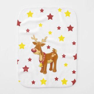 Pano De Boca Rudolph as estrelas cheiradas vermelhas do Natal