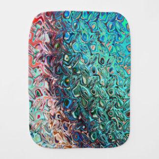 Pano De Boca Teste padrão azul de cristal elegante elegante do