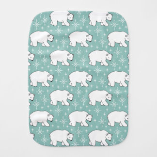 Pano De Boca Teste padrão bonito verde do urso polar da hortelã