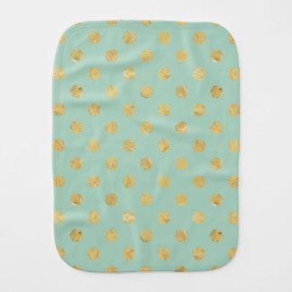 Pano De Boca Teste padrão de bolinhas elegante da folha de ouro