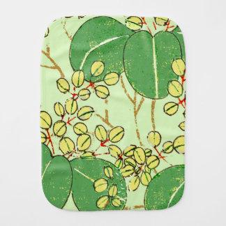 Pano De Boca Teste padrão de repetição floral da folha verde