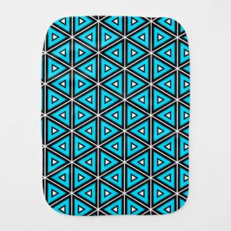 Pano De Boca Teste padrão quadrado bonito branco, preto e de