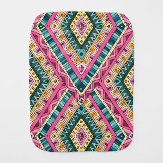 Pano De Boca Teste padrão tribal abstrato colorido brilhante de