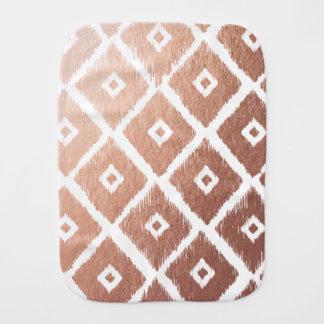 Pano De Boca Teste padrão tribal cor-de-rosa da folha de ouro