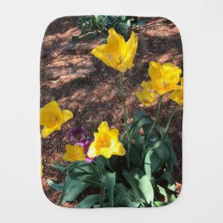 Pano De Boca tipo colorido amarelo flores da tulipa no