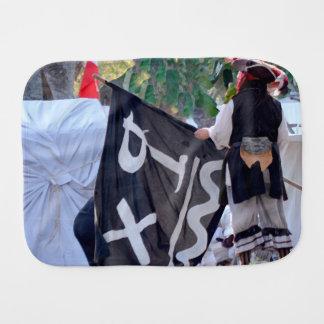 Pano De Boca tomada abaixo da imagem do poster da bandeira de