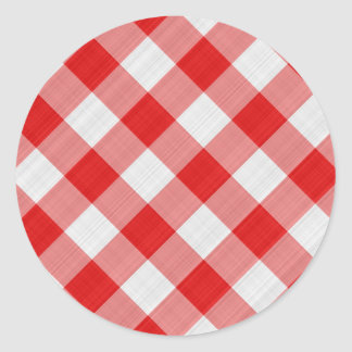 pano de mesa vermelho adesivos em formato redondos
