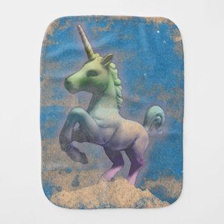 Pano do Burp do bebê do unicórnio (azul de Sandy) Fraldas De Ombro