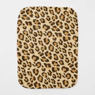 Pano do Burp do impressão do leopardo Paninhos De Boca