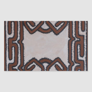 Pano do Tapa de Papuá-Nova Guiné Adesivo Retangular