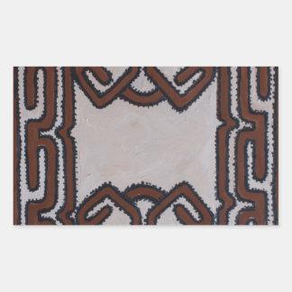 Pano do Tapa de Papuá-Nova Guiné Adesivo Em Formato Retângular