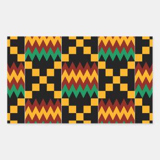 Pano preto, verde, vermelho, e amarelo de Kente Adesivo Retangular