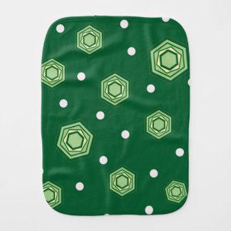 Pano verde do Burp do bebê dos hexágonos Fraldinhas De Boca