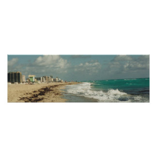 Panorama da costa de Miami Beach Poster