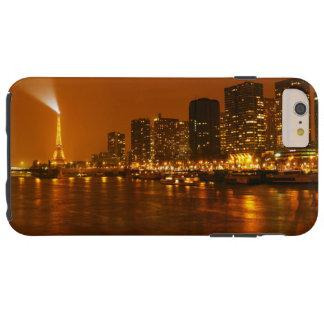 Panorama da skyline da noite de Pont Mirabeau Capa Tough Para iPhone 6 Plus
