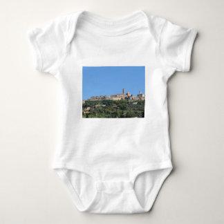 Panorama da vila de Volterra, província de Pisa Body Para Bebê