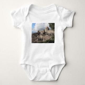 Panorama da vila de Volterra, Toscânia, Italia Body Para Bebê