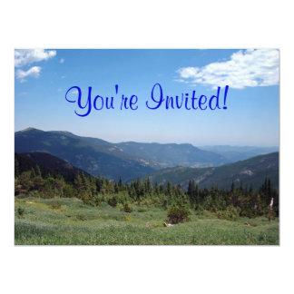Panorama das montanhas rochosas de Colorado Convite 16.51 X 22.22cm